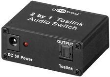 Conmutador De Audio Toslink 2in/1out conectar dos las señales ópticas con salida de 1