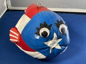 L@@K Puerto Rico Pez Guanabano Globo Coconut Fish Flag Handmade Boricua NEW PR