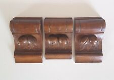 3 Fruit decorative carving corbel bracket Antique french architectural salvage