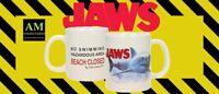 TASSE - JAWS - DER WEIßE HAI - BEACH CLOTHED - KAFFEEBECHER POT - NEU/OVP