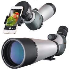 20-60x80 Zoom Spotting Scope Angled 2''Eyepiece Dual Focus TelescopeDigiscoping