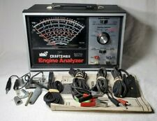 SEARS CRAFTSMAN PROFESSIONAL QUALITY ENGINE ANALYZER W/ ACCESSORIES CABLES BOX