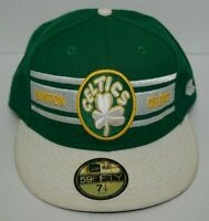 VTG Boston Celtics New Era 59FIFTY Fitted Hat Harwood Classics Green/White 7 1/4