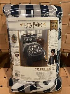 HARRY POTTER FULL BED SET - SUPER SOFT - INCLUDES COMFORTER AND SHAM 7 PIECES!!