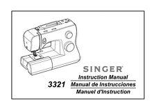 Singer 3321 Talent Nähmaschine/Stickerei/Kettelmaschine Betriebsanleitung