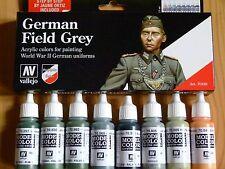AV Vallejo campo tedesco WWII colori uniformi Grigio Vernice Acrilica Set per i modelli