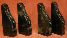 4  Eastlake Carved Gilt Black Slate Corbels Brackets Victorian Aesthetic 2 Pair