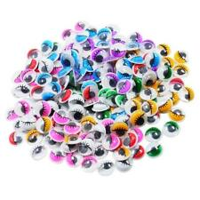 168x Assorted Color Googly Wiggly Eyelash Eyes Self Adhesive DIY Crafts 12mm