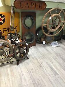 "Original Antique SOLID BRASS Wilcox Crittenden 8""Maritime Ship PORTHOLES  PAIR."