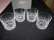 """SET OF 4 WATERFORD LISMORE"""" 9 OZ, 3 1/2""""H OLD FASHIONEDES ,W/BOX, XLNT CONDITION"""