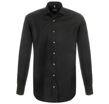 ETERNA Herren Langarm Hemd Slim Modern Comfort Fit weiß blau & schwarz