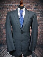 M&S Single Breasted Grey Check Wool Blend Suit Jacket 40L