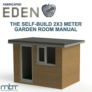 Summer House, Garden Building, office or gym - Manual and plans. 2X3 meter.