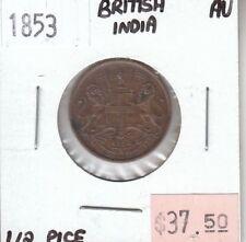 British India 1/2 Pice 1853 AU