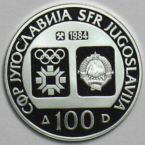 Yugoslavia 1984 100 Dinara Winter olympics (speed skating) 298026 combine shippi