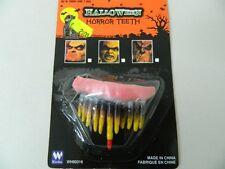Dentiera Zombie Halloween Costume di Scena Con Adesivo Finti Falsi Denti Adulti