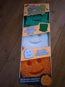 Scrub Daddy Limited Edition Halloween Spooky Shapes Sponge Scrubbers Set of 3