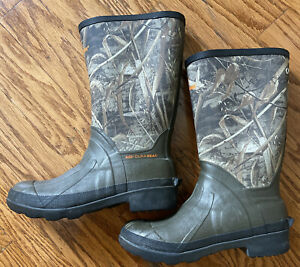 Game Winner 400 Dura Heat Hunting Boots Youth Size 4 Steel Shank Camo Green