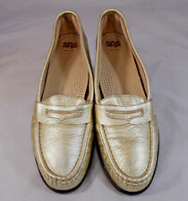 SAS Tripad Comfort Womens Slip On Mock Penny Loafers Size 9.5 N Gold Shimmer