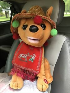 """Chantilly Lane 10"""" Pancho Animated Sings Feliz Navidad Pre-owned With Tags"""