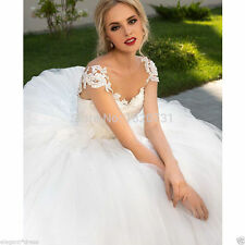 New White/ivory Wedding dress Bridal Gown custom size 6-8-10-12-14-16 +++