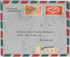 54074 - ITALIA COLONIE: SOMALIA -  BUSTA RACCOMANDATA da MOGADISCIO 1958