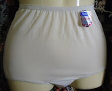 NOS Vtg Snow White Double Nylon 1960s Panties sz 5 Waist 19-31 NO Cotton As Is