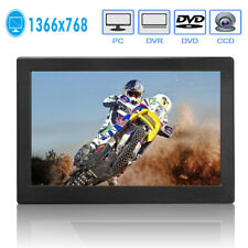 "12"" Inch HD 1366P LED Screen Monitor PC CCTV HDMI/VGA Color Display Dual Speaker"