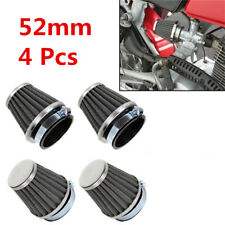 4 Pcs/Set 52mm Universal Motorcycle ATV Mushroom Air Filter+Clamp Kit For Yamaha