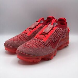 Nike Mens 10 Air VaporMax 2020 Flyknit Team Red Running Sneakers Shoes CT1823-60
