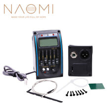 Naomi Preamp 5 Band Guitar Preamp EQ Tuner Piezo LCD For Acoustic Guitar LC-5 EQ