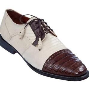 Men's Los Altos Caiman Belly W Teju Lizard Cap Toe Derby Shoes