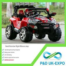 KIDS CAR JEEP RAPTOR ELECTRIC RIDE ON 4X4  2 x 6V Battery 2.4G remote Control