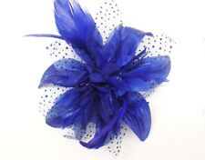 Gorgeous Hair Flower Wedding Flower Fascinator On Comb Flower Size 12 cm RoyalBl