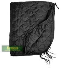 BRITISH ARMY STYLE BLACK QUILTED PONCHO LINER