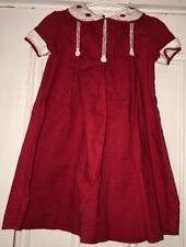 Bella Bliss Girls Sz 3 Lightweight Red White Collared Dress