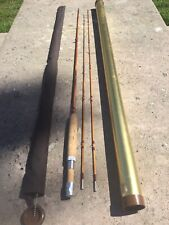 Hi Horrocks-Ibbotson Tonka Prince 7' 4wt Vintage Bamboo Fly Rod 2 Tips
