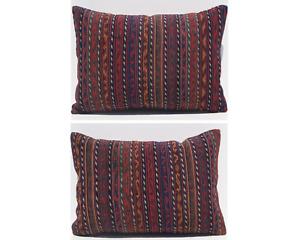 "Kurdish kilim pillows 2 pillow vintage kurdish kilim pillow area 2 rugs 20""x12"