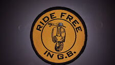 """""""Ride Free in GB"""" Scooter Patch"""