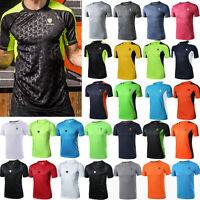 Mens Quick Dry T-shirt Short Sleeve Compression Sport Gym Muscle Jersey Tee Tops