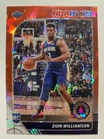 2019-20 NBA HOOPS Premium Stock ZION WILLIAMSON RC Rookie RED CRACKED ICE PRIZM