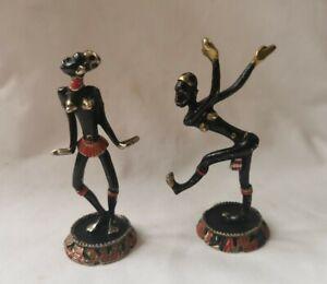 Hagenauer Painted African Dancing Figures