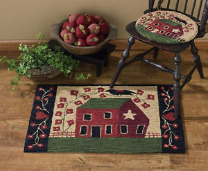 """Red House Hooked Rug by Park Designs - 24"""" x 36"""""""