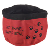 8inch Fold Up Travel Dog Water Drinking Bowl L3F3