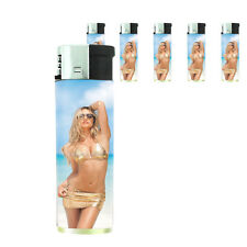 California Pin Up Girl D4 Lighters Set of 5 Electronic Refillable Butane