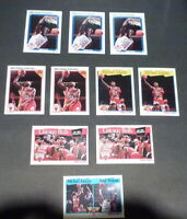 LOT OF 10 MICHAEL JORDAN 1991 NBA HOOPS BASKETBALL CARDS MVP #30-253-317-277-306