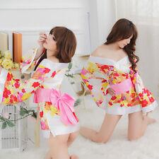 Cosplay Japanese Kimono Sexy Lingerie Set Women Costumes Sex Underwear Pajamas