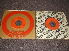 2 Beatles orange label Capitol 45 rpm records w/paper sleeves Help Got to Get...