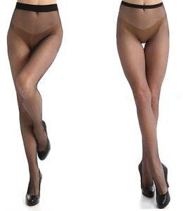 Calvin Klein Women's Tights Hosiery Open Dot Tulle Sheer Tights Black A/B, C/D