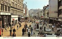 Vintage South Wales Postcard, Queen Street, Cardiff GZ5